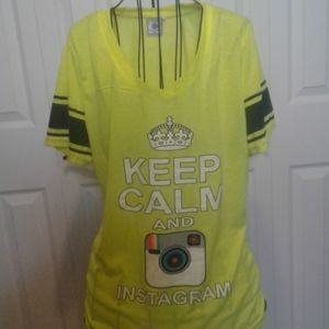 Keep calm and Instagram t-shirt